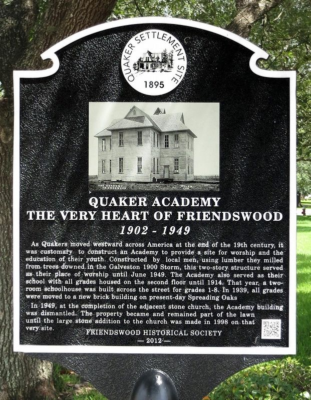 Quaker Academy Marker image. Click for full size.