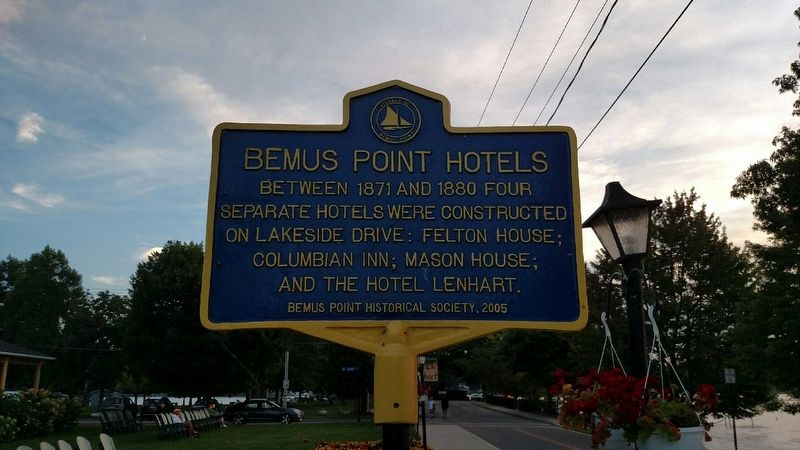 Bemus Point Hotels Marker image. Click for full size.