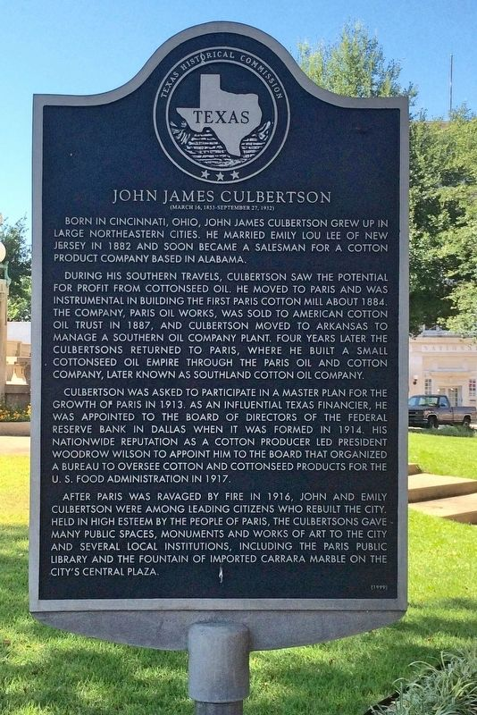 John James Culbertson Marker image. Click for full size.