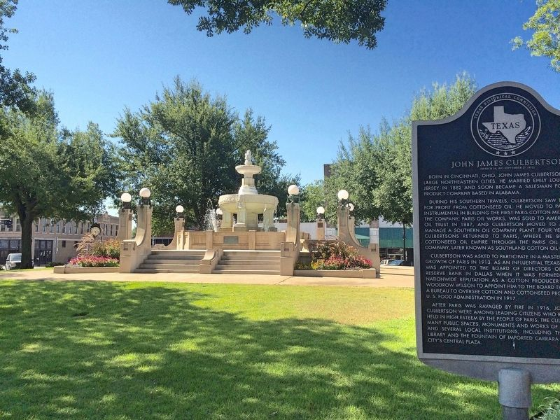 John James Culbertson Marker & Fountain in Plaza. image. Click for full size.
