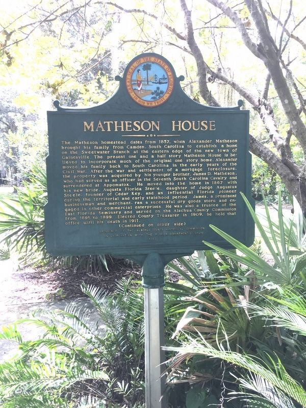Matheson House Marker image. Click for full size.