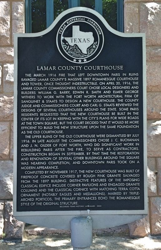 Lamar County Courthouse Marker image. Click for full size.