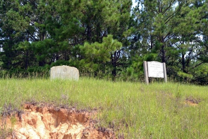 Natchez Trace at Mathiston Marker and Luther Latham Memorial Highway Sign image. Click for full size.