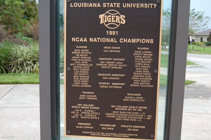 1991 National Champions Marker image. Click for full size.