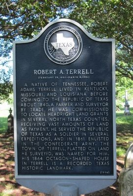 Robert A. Terrell Marker image. Click for full size.