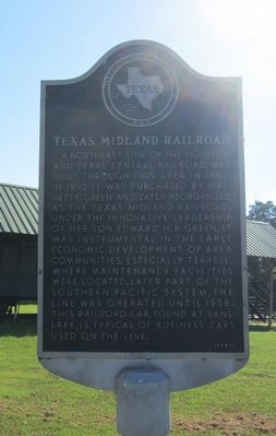Texas Midland Railroad Marker image. Click for full size.
