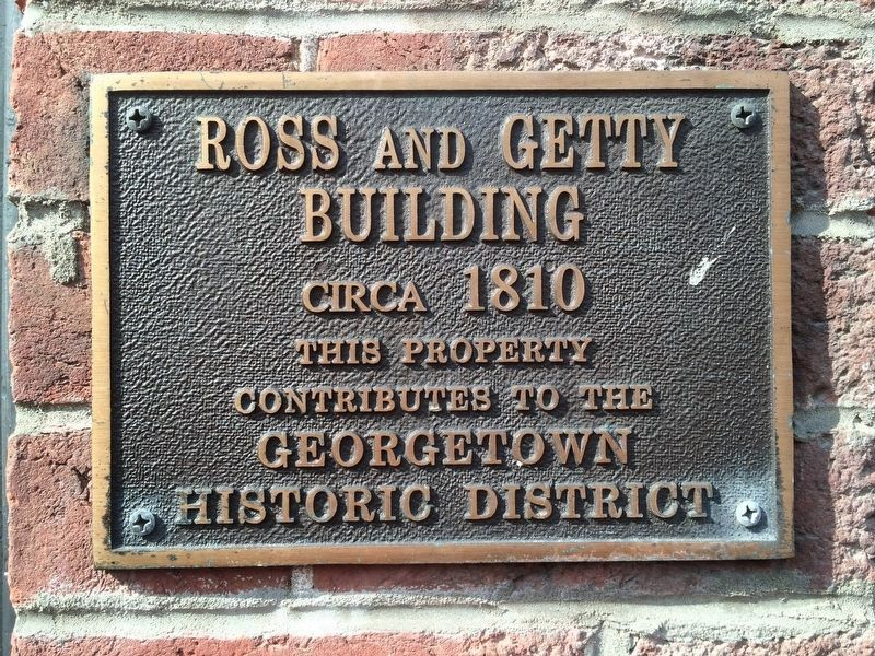 Ross and Getty Building, mentioned in the marker image. Click for full size.