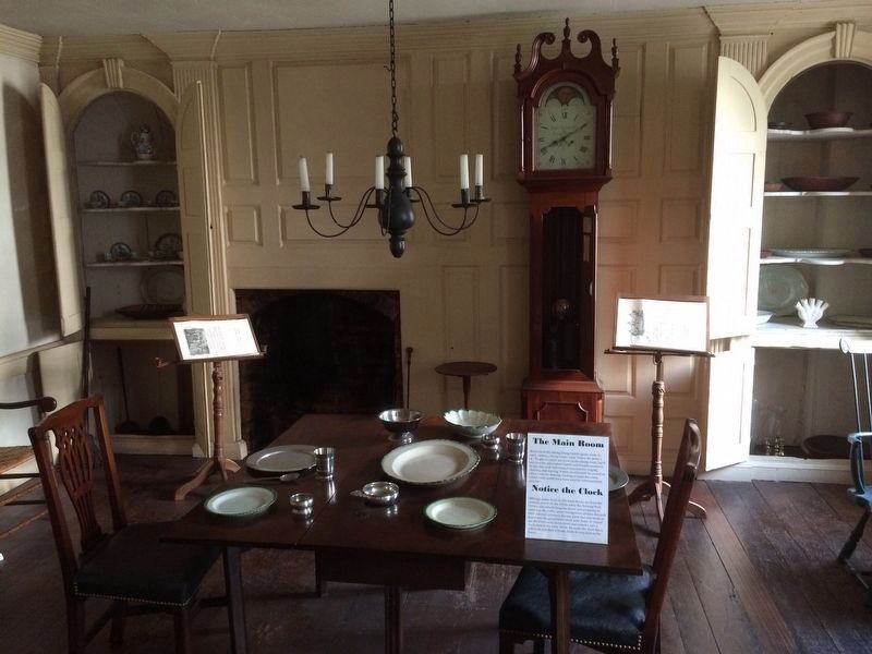 The Old Stone House dining area, including the Suter clock. image. Click for full size.