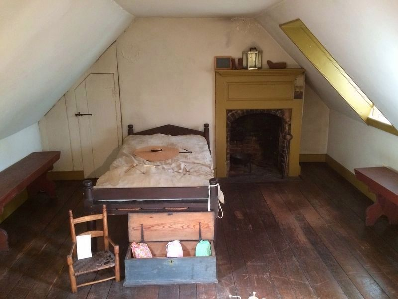 Old Stone House attic and third floor children's room. image. Click for full size.