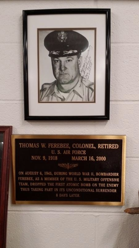 Ferebee photo & plaque at Davie County Library image. Click for full size.