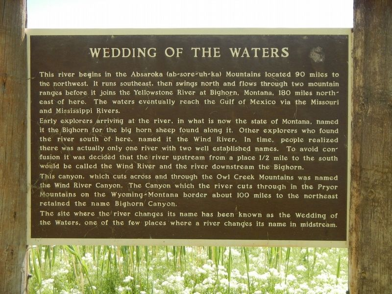 Wedding of the Waters Marker image. Click for full size.
