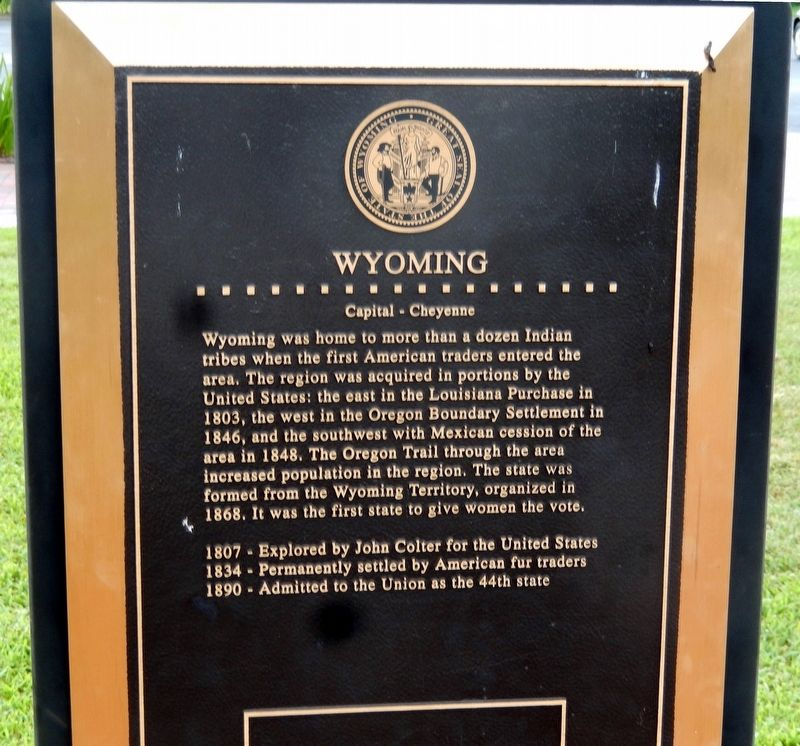 Wyoming Marker image. Click for full size.