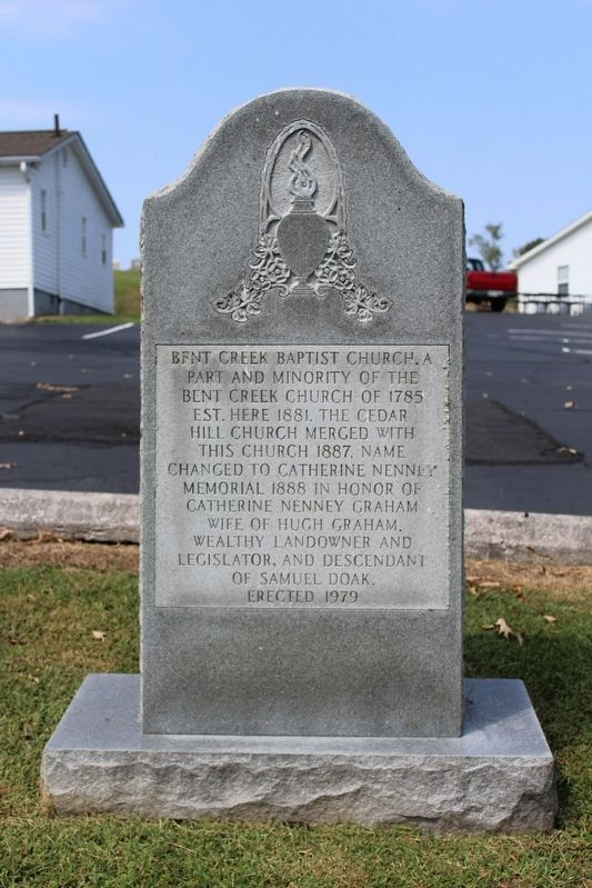 Bent Creek Baptist Church Marker image. Click for full size.