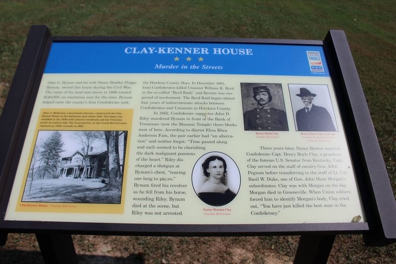 Clay-Kenner House Marker image. Click for full size.