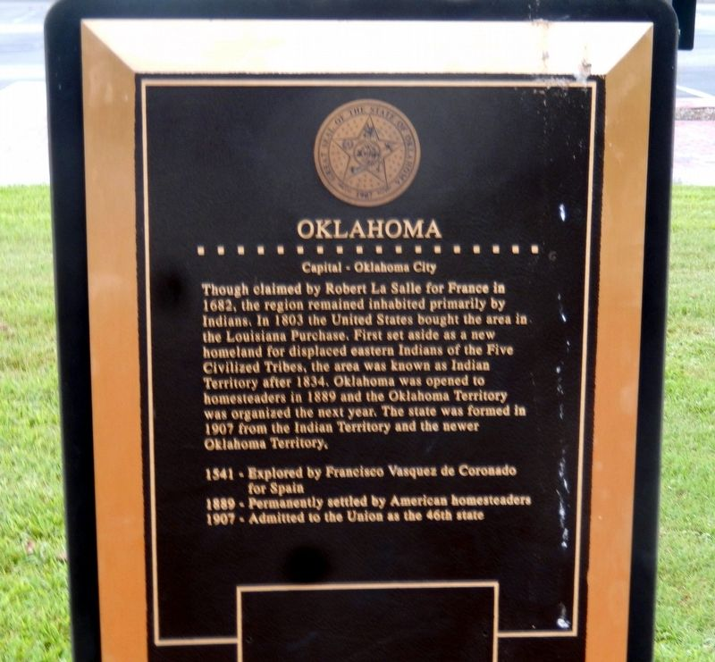 Oklahoma Marker image. Click for full size.