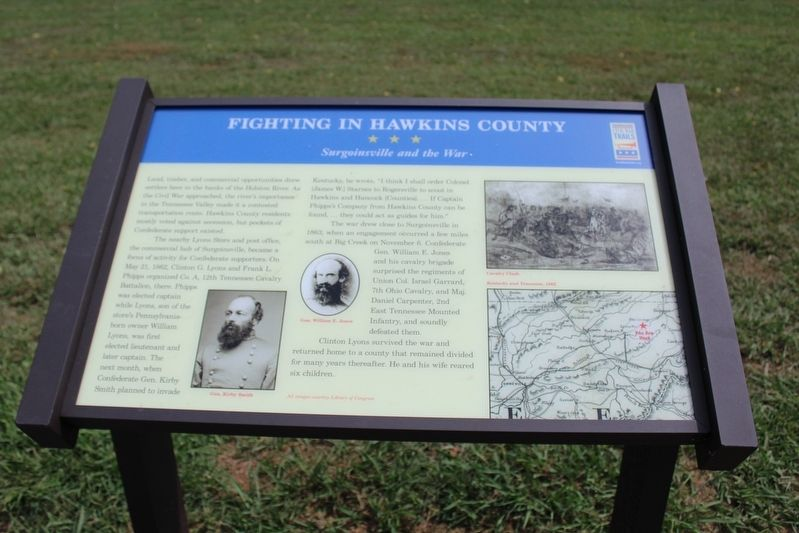 Fighting in Hawkins County Marker image. Click for full size.