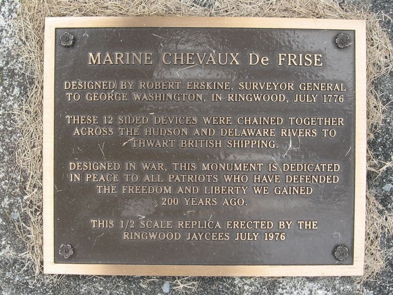 Marine Chevaux De Frise Marker image. Click for full size.