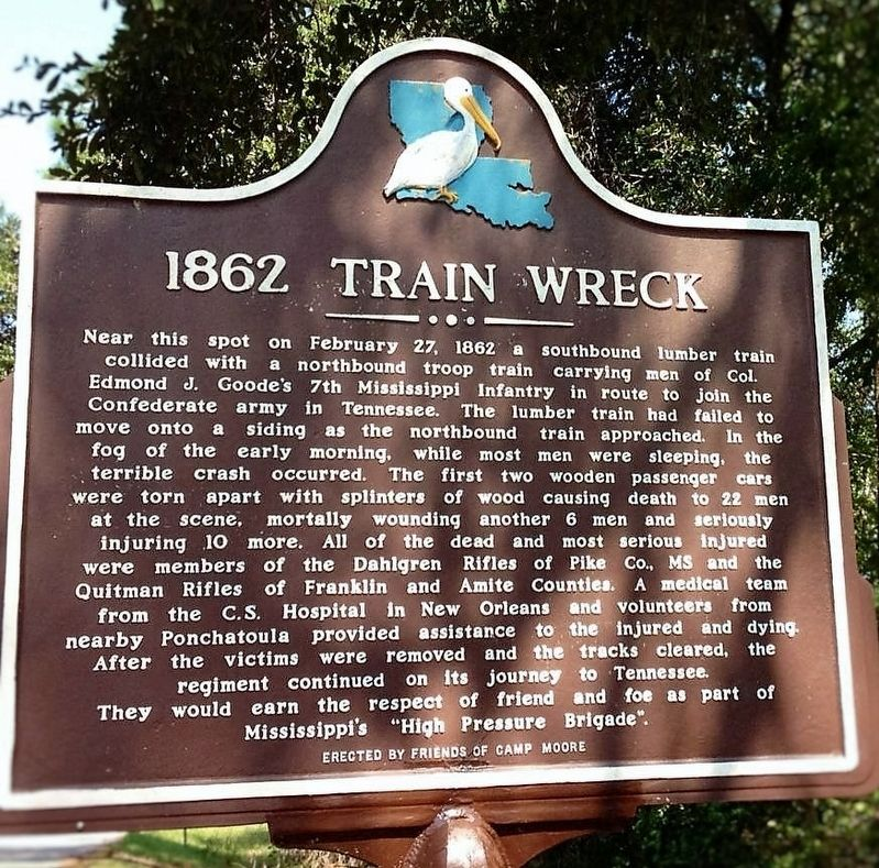 1862 Train Wreck Marker image. Click for full size.