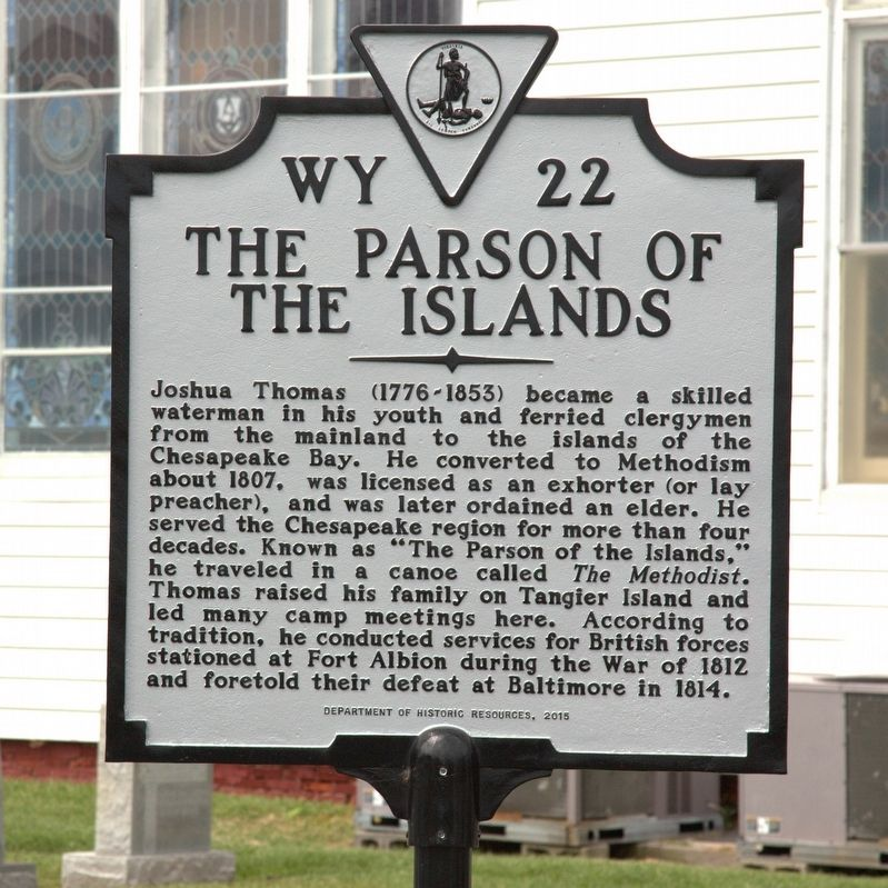 The Parson of the Islands Marker image. Click for full size.