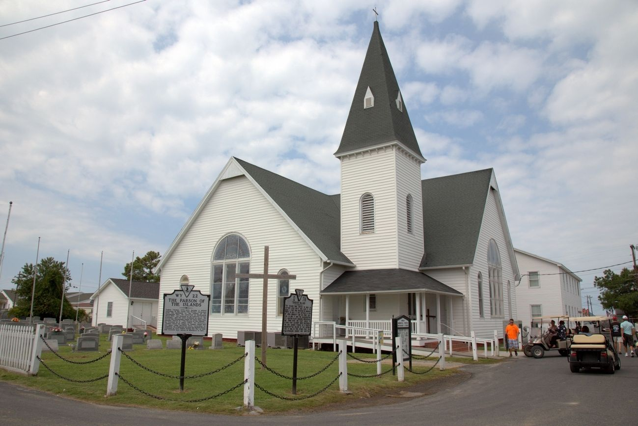 Swain United Methodist Church with this and the Tangier Island Marker image. Click for full size.