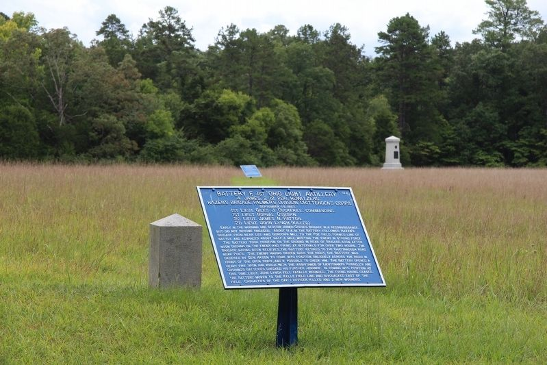 Battery F, 1st Ohio Light Artillery Marker image. Click for full size.