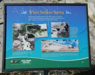 White Sulphur Springs Marker image. Click for full size.