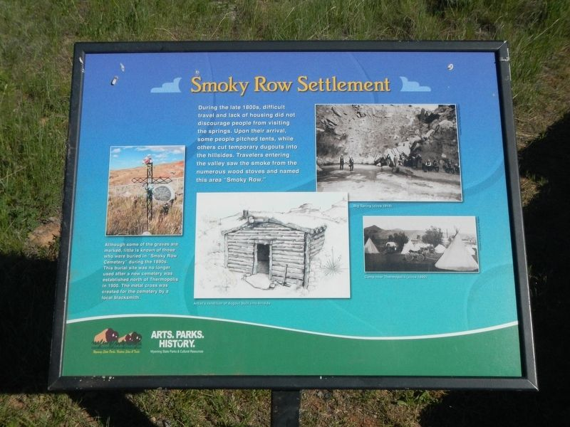 Smoky Row Settlement Marker image. Click for full size.