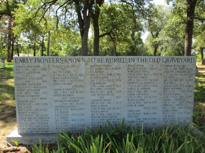 The Old Graveyard Memorial image. Click for full size.