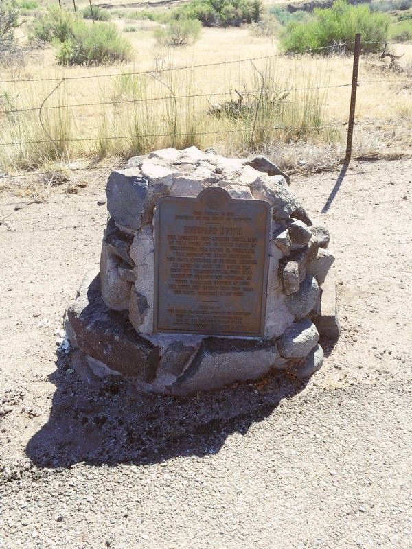 1951 Huerfano Butte plaque next to this marker. image. Click for full size.