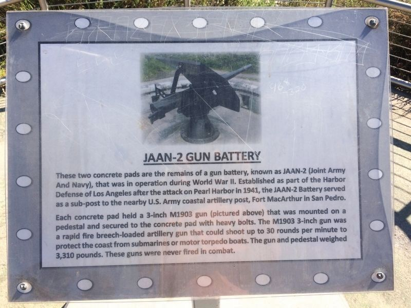 JAAN-2 Gun Battery (east) Marker image. Click for full size.