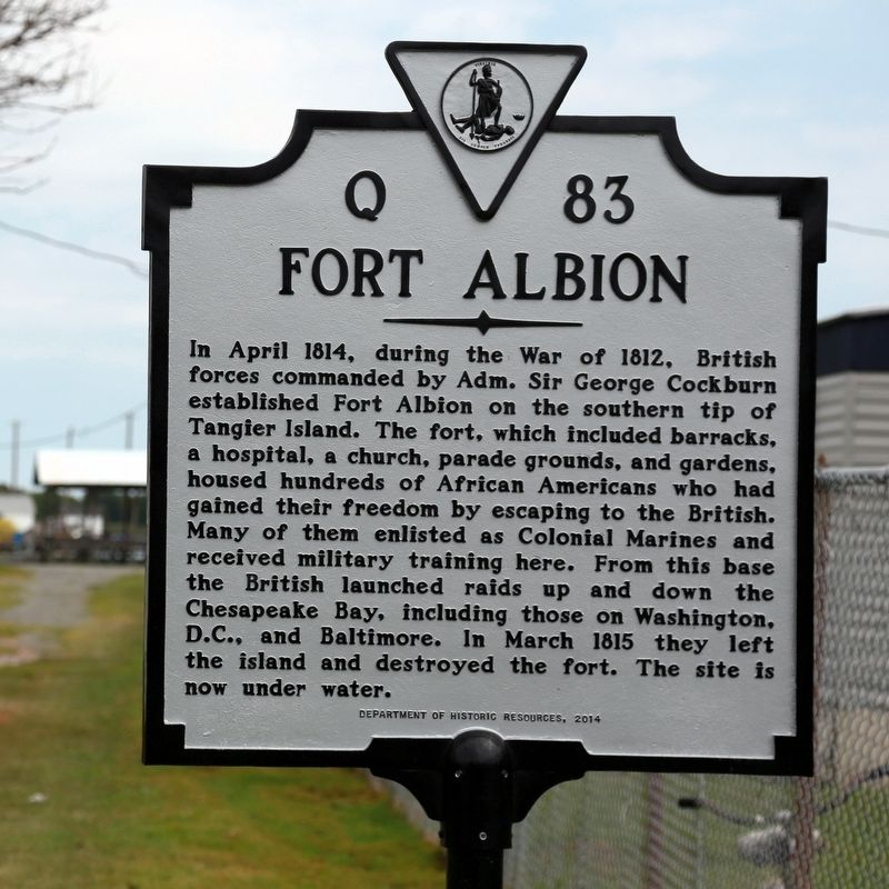 Fort Albion Marker image. Click for full size.