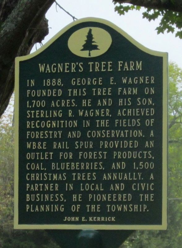 Wagner's Tree Farm Marker image. Click for full size.