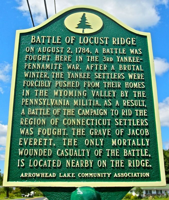 The Battle of Locust Ridge Marker image. Click for full size.