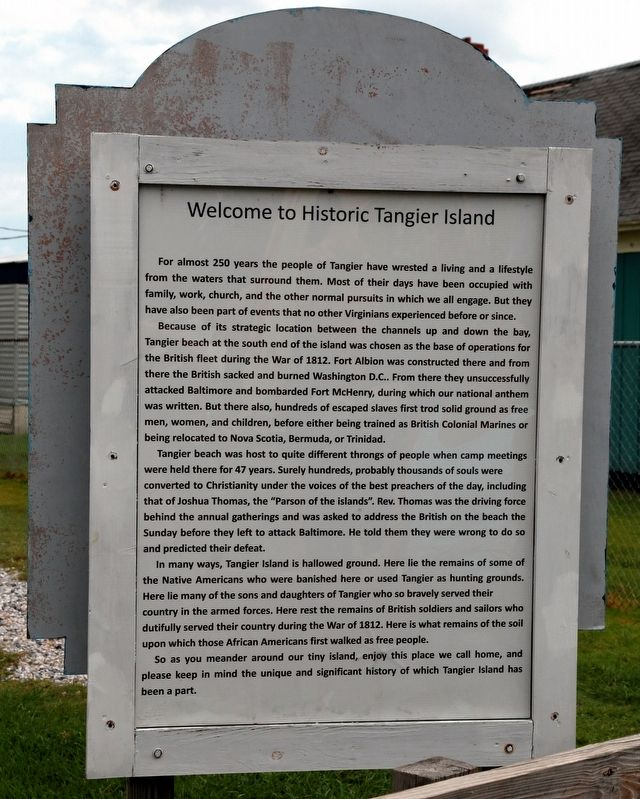 Welcome To Historic Tangier Island Marker image. Click for full size.
