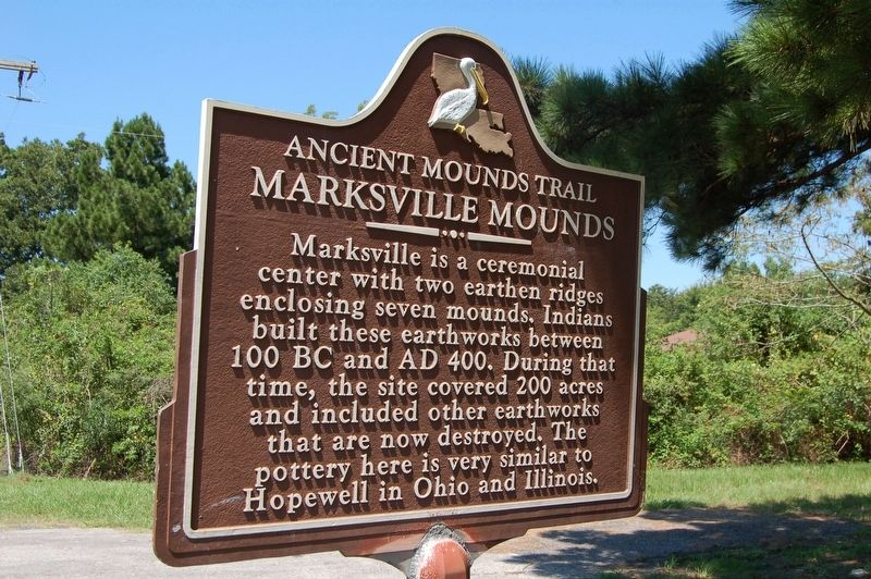Marksville Mounds Marker image. Click for full size.