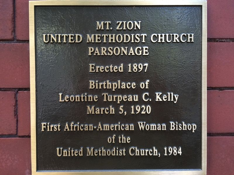 Mt. Zion United Methodist Church Parsonage Marker image. Click for full size.