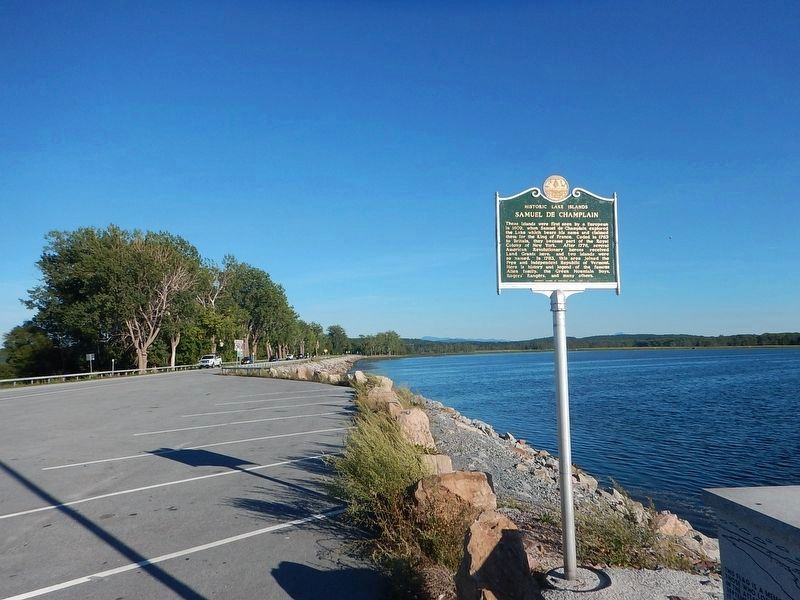 Wideview of Historic Lake Islands - Samuel De Champlain Marker image. Click for full size.