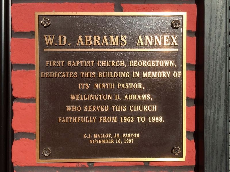 W. D. Abrams Annex at the First Baptist Church image. Click for full size.
