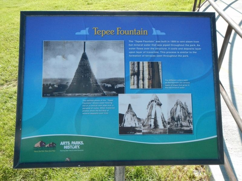 Tepee Fountain Marker image. Click for full size.
