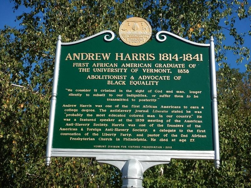 Andrew Harris Marker image. Click for full size.