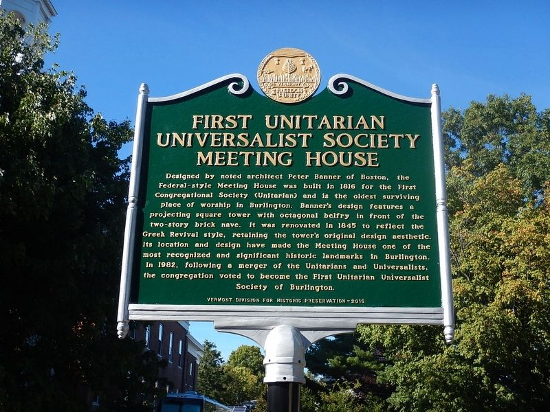 First Unitarian Universalist Society Meeting House Marker image. Click for full size.