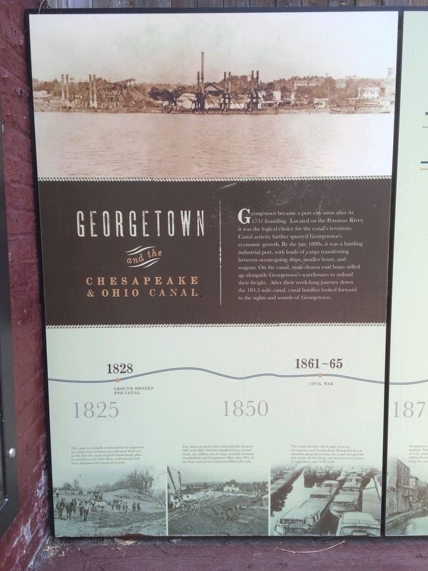 Georgetown and the Chesapeake & Ohio Canal Marker left panel image. Click for full size.