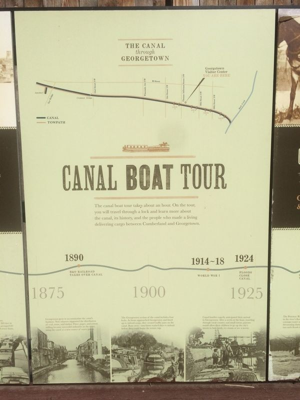 Georgetown and the Chesapeake & Ohio Canal Marker, middle panel image. Click for full size.