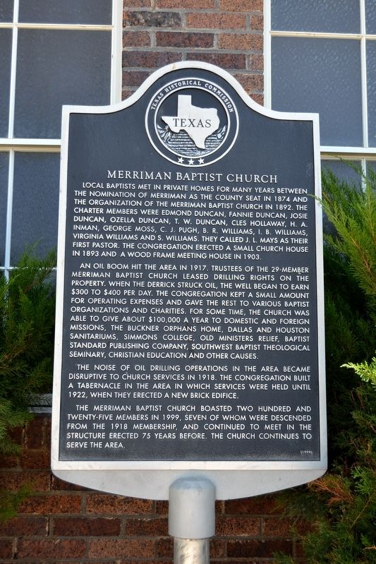 Merriman Baptist Church Marker image. Click for full size.