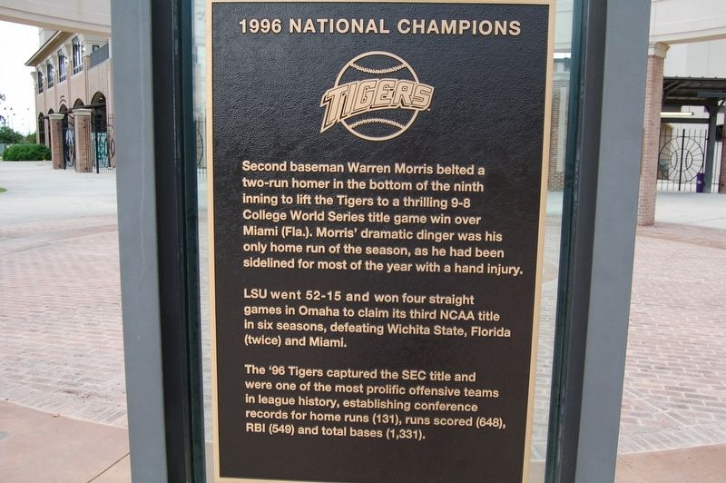 1996 National Champions Marker image. Click for full size.
