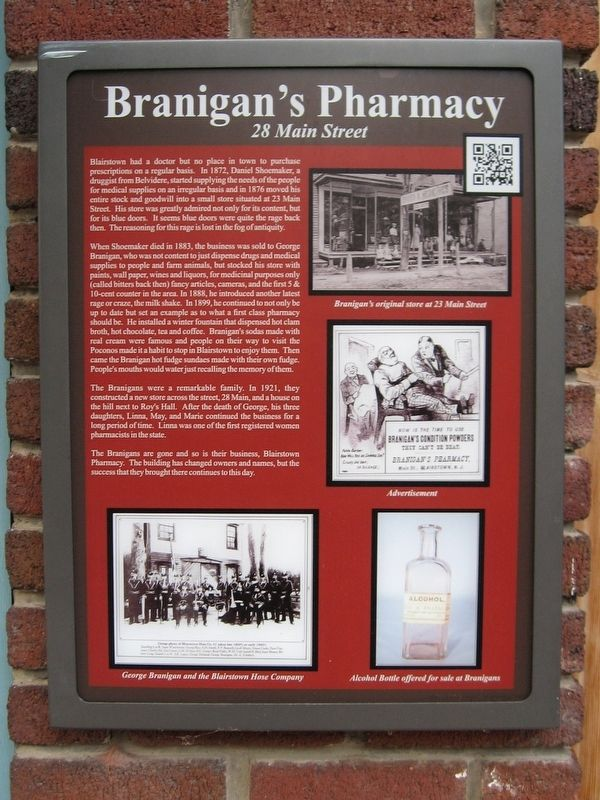 Branigan's Pharmacy Marker image. Click for full size.
