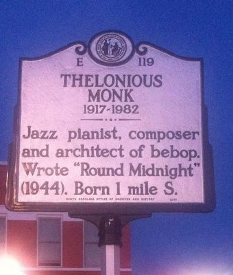 Thelonious Monk Marker image. Click for full size.