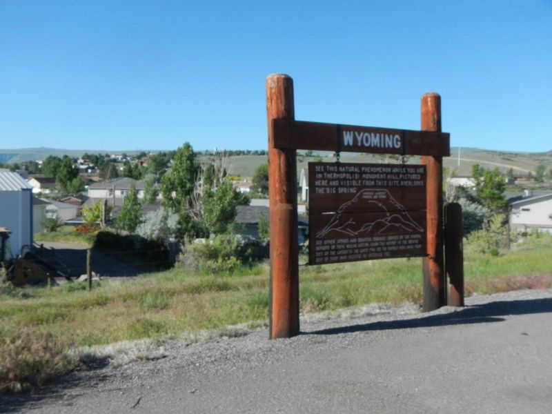 World's Largest Mineral Hot Springs Marker image. Click for full size.