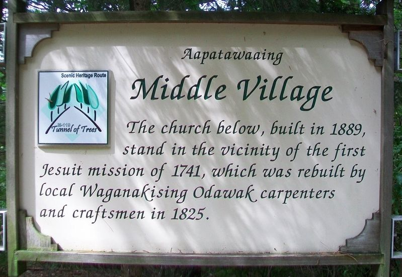 Middle Village Marker image. Click for full size.