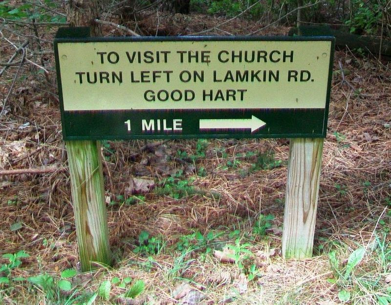 Church Directional Sign Below Middle Village Marker image. Click for full size.